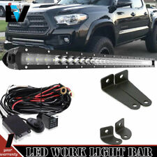Fit Toyota Tacoma 05-15 30'' LED Light Bar Slim Combo Hidden Bumper+Wiring Kit