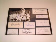 LEEDS UNITED FC 1972 FA CUP FINAL DON REVIE & BILLY BREMNER +11 SIGNED REPRINT