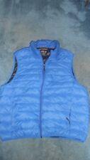 XL Hawkes & Co. Sport Performance Blue Vest Duck Down  Feather Nylon light