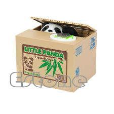 Cute Lovely Panda Itazura Kitty Cat Automated Steal Coin Piggy Bank Savings Box
