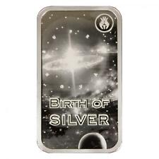 Silverbug in space  To The Moon Birth of Silver 1 oz Proof Silver Bar - IN-STOCK