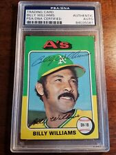1975 Topps Billy Williams Autographed Baseball Card #545 PSA/DNA (AYC)