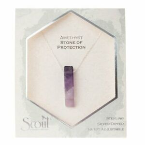 Scout AMETHYST Stone Point NECKLACE Protection Jewelry Wrap Silver Chain SN010
