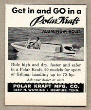 1958 Print Ad Polar Kraft Aluminum Boats Made in Memphis,TN