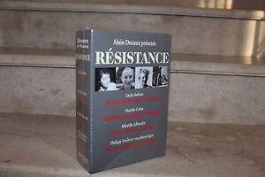 alain decaux présente : résistance (2 vol /emboitage, neufs sous blister)