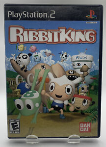 Ribbit King for Sony Playstation 2 PS2 CIB Complete Black Label NTSC By Bandai