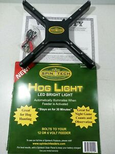 Spin Tech LED Hog Feeder Light 6V-12V Hunting Game Watch