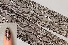 """Foxy Lady in black"" DESIGN #4 transfer nail art foil - 1 meter"