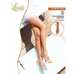 Levante  Collant Donna - Portofino  Calze 8 DEN Infradito - senza punta