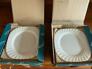 Johnson Brothers China Regency White Set of 8 Square Salad Plates in box