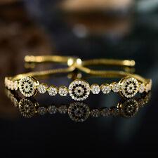 Sevil 18K Gold Plated Adjustable Bracelet With Multi-Color Swarovski Elements