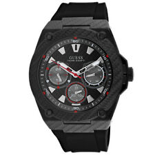 GUESS W1048G2 Legacy 45mm Men's Black Silicone Watch