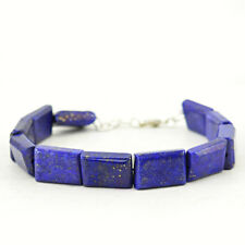 Earth Mined 194.00 Cts Blue Lapis Lazuli Untreated Beads Bracelet - Hand Made