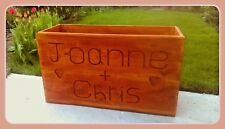 Large wooden garden planter- Personalised with your text