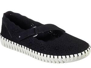 Skechers Sepulveda Blvd-lovelies Mary Jane SHOES/Sneakers , Size 6, Black Bnwob