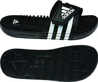 Womens Adidas Adissage Black Slides Shower Sandal Athletic Sport 087609 Sz 5-10
