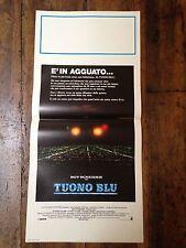 Tuono Blu locandina poster Badham Blue Thunder Oates Roy Scheider Clark McDowell
