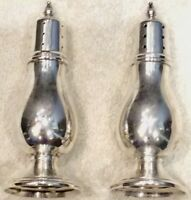 VTG SOLID Sterling Silver Salt and Pepper Shakers Frank M. Whiting 65 Grams 861