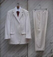 Jos A Bank Seersucker 2pc Suit ~ 46L ~ Tan ~ 100% Cotton ~ STAYS COOL