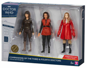 "Doctor Who Companions Of The  Third & Fourth Doctors 5.5"" Figure Set ... BNIB"