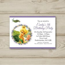 10 Personalised Birthday party invitations Tinkerbell