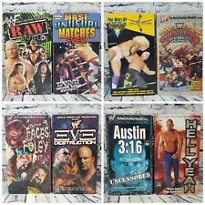 Vintage WWF WCW  Lot of 8 Wrestling VHS Video Tapes Big Box Starcade Raw Austin
