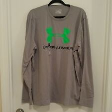 Under Armour long sleeved heat gear grey t-shirt