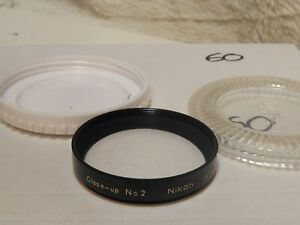 Nikon Vintage 52mm Close up Attachment no.2 filter macro vgc