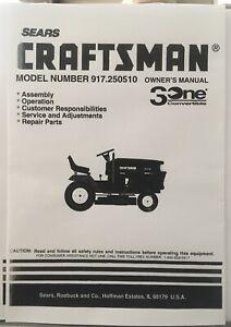 Owner's Manual Sears Craftsman 19.5 HP Lawn Tractor Mower- Model 917.250510