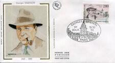 FRANCE FDC - 2911 1 GEORGES SIMENON - 15 Octobre 1994 - LUXE sur soie