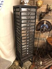 Industrial style tall chest of draws