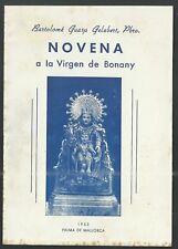 Librito novena antique Virgin de Bonany santino image pieuse estampa