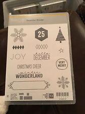 """Stampin' Up! Project Life """"December Wonder� Stamp Set 136562 New"""