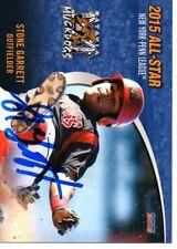 Stone Garrett 2015 Batavia Muckdogs 2015 New York Penn All Star Game Signed Card