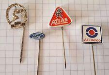 4 alte Pin Anstecknadel FORD AC DELCO ATLAS DLV 1976