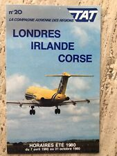 1980 TAT Airlines Timetable airways Fokker