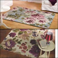 100% Wool Traditional Elegance Floral Design Soft Thick Rug Hand Tufted Carpet