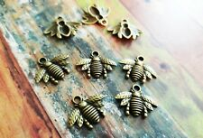 BULK Charms Bee Charms Antiqued Bronze 50 pieces Wholesale Charms Bumblebee