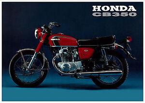 HONDA Poster CB350 K3 1970 1971 1972 Suitable 2 Frame