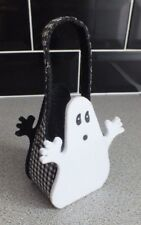 Boo Ghost Black and White Trick Or Treat Basket Halloween Polyester Fiber