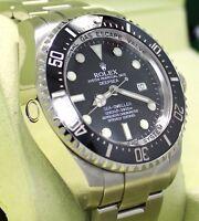 ROLEX SEA-DWELLER Deepsea 116660 Steel Ceramic Bezel Watch BOX/PAPERS *MINT*
