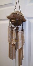 Hawaiian Bamboo Wind Chimes Coconut Top Wind Chyme Porch & Garden Decor Yard