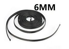 6mm Black Braided Cable Sleeving Sheathing Auto Wire Harnessing 10 Meter New S5