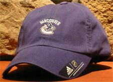 separation shoes 8ee39 7aa06 Men s NHL VANCOUVER CANUCKS adidas Hockey Hat Ball Cap Adjustable Slouch  Blue