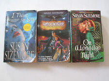 SUSAN SIZEMORE LOT OF 3 PAPERBACKS I Thirst for You Laws of the Blood Companions
