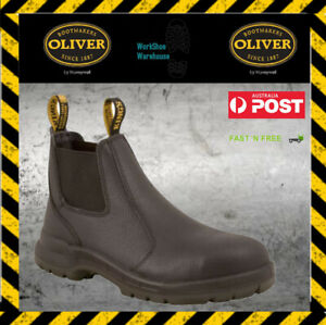 Oliver / Kings 15480 Black Elastic Sided Steel Toe Cap Safety Work Boots NEW!