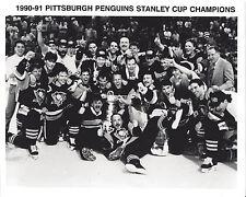 PENGUINS 1990-91 STANLEY CUP CHAMPS CELEBRATION 8X10