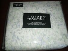 RALPH LAUREN Sheet Set Queen 4pc Pastel Watercolor 100% Cotton New