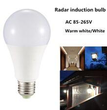 2 PACK LED  Radar Motion Sensor Light Bulb E27 Infrared Induction Bulb 7W