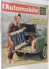 L AUTOMOBILE Ottobre 1961 Salone di Torino Maserati Idrovia Mestre Padova Spagna
